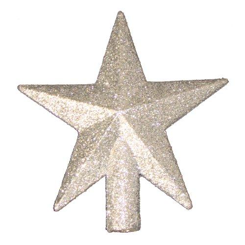 Kurt Adler 4' Petite Treasures Silver Glittered Mini Star Christmas Tree Topper - Unlit