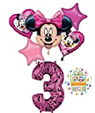 Minnie Mouse Party Supplies 3rd Birthday Happy Helper Balloon Bouquet Decorations