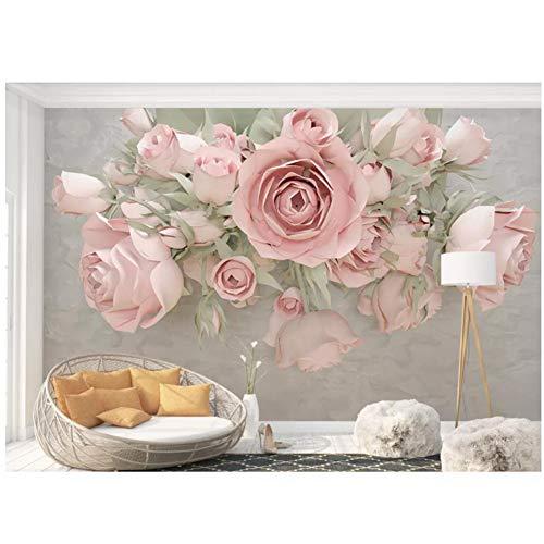 chtshjdtb bloemenprint behang fotobehang gebruikergedefinieerd bloemenreliëf muurschildering behangen 3d-254x184cm