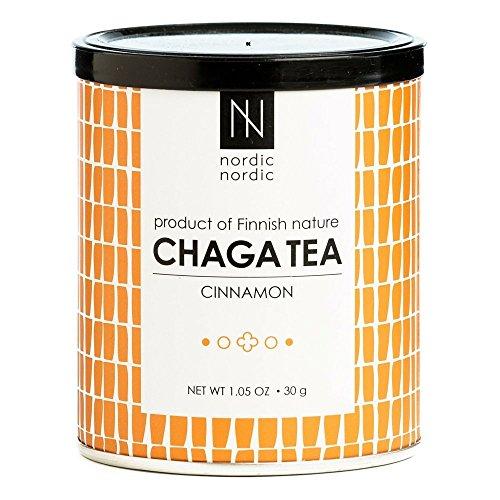 NordicNordic Chaga Mushroom Tea, Powerful Antioxidant, Natural, Vegan, Paleo, 20 Bleach-Free Tea Bags (Cinnamon Flavor)