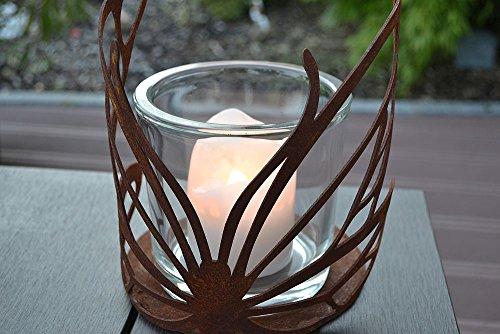 Windlicht Schmetterling Glas Kerze Rost Edelrost Tischdeko Metall Deko Dekoration Deko-Idee Dekowindlicht Rostdeko Gartendeko Geschenk-Idee Geschenk