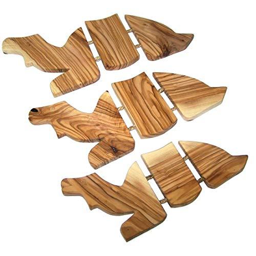 Rif-Home Camels Trivets Set - Hand Carved Olive Wood Trivet Set for Hot Plate - Asfour
