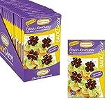 BackDecor | Decor Kleeblätter | aus Zartbitter Schokolade | VKE mit 12 Packungen | für deine Kuchen und Torten