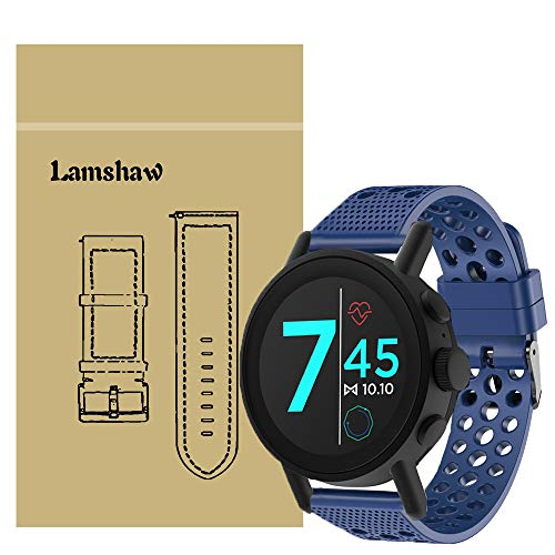 Compatible for Misfit Vapor X Bands, Blueshaw Silicone Replacement Wristbands Sport Strap with Metal Buckle Compatible for Misfit Vapor X Smartwatch (Blue)