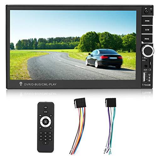 FOLOSAFENAR Video Estéreo para Automóvil, Reproductor De Video para Automóvil Y Micrófono Pantalla HD De 7 Pulgadas para Una Experiencia De Conducción Cómoda