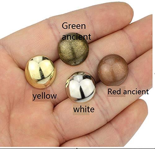 14 mm schuimnagels, antieke nagels, ronde nagels, ronde hoofdnagels, hardware punaises, 100 stuks 14 x 17 mm dikke 13 mm witte koffie.