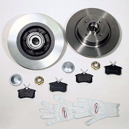 Autoparts-Online Set 60001106 Bremsscheiben mit Radlager + ABS Sensorringe + Bremsbeläge für Hinten/die Hinterachse