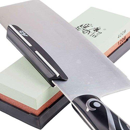 Schwarz Spitzer Winkel Schleifstifte Klemme für Schleifstein Schleifhilfe Messer