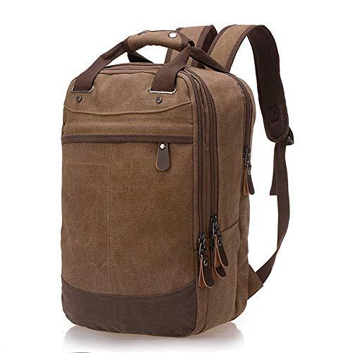 Thumby Outdoor-rugzak, duurzaam, multifunctioneel, voor heren, casual rugzak van linnen, rugzak voor studenten, vrije tijd 25L Koffie