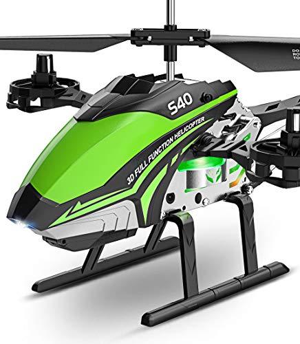 SYMA Hubschrauber ferngesteuert RC Helikopter Helicopter Flugzeug S40 Fernbedienung 4 Knäle 2.4 GHz LED Gyro Schwebefunktion Expertenmodus Indoor Geschenk Kinder ab 8 Jahre