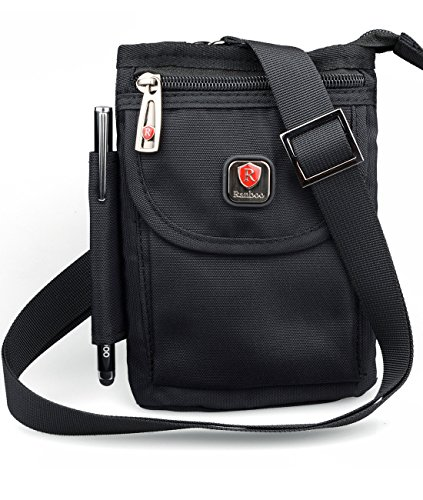 Ranboo Multifunctional Cellphone Purse Crossbody Shoulder Bags Belt Loop Pouch Travel Waist Packs Strap for iPhone XS Max iPhone 8 Plus 7 Plus Note 8 5 S9/ S8 Plus Outdoor Sports Climbing Hiking Black