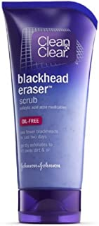 Clean & Clear Blackhead Eraser Facial Scrub with 2% Salicylic Acid Acne Medication, Oil-Free Daily Facial Scrub for Acne-Prone Skin Care, 5 oz (Pack of 2)