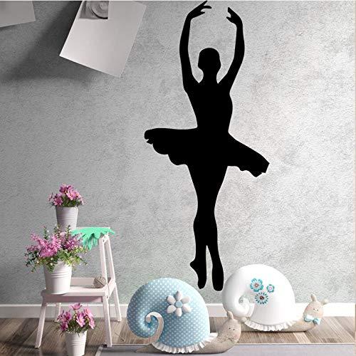 Belleza bailarinas calcomanías de pared decoración del hogar para niñas pegatinas de pared de habitación ballet impermeable papel tapiz A6 20x46cm