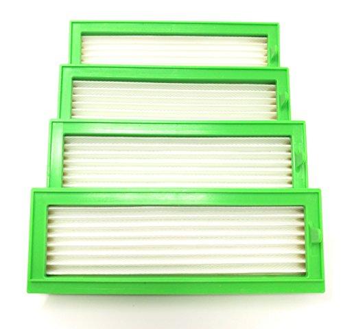Tf Lot de 4 filtres HEPA anti-allergie pour aspirateur Kobold VR 200