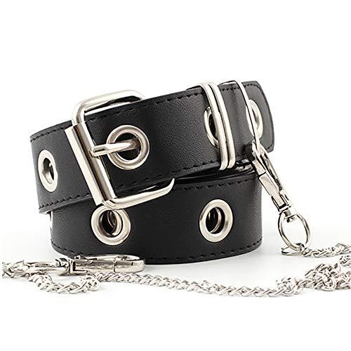 ZOYLINK Cinturón Elástico Cinturón Mujer Cuero Negro Cinturón Jeans...