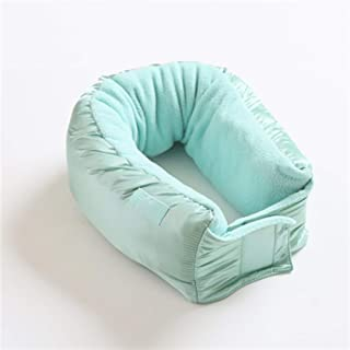 OAUOU_O Modern and Simple Portable Belt Pink Travel Pillow, Can Also Be Used As A Scarf (Color : Green)