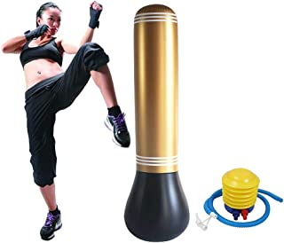 TUOLE Punch Bag Inflatable Free-Standing Fitness Target Stand Tower Bag MMA Boxing Punching Kick Training Tumbler for Adult/Kids Relieving Pressure Body Building