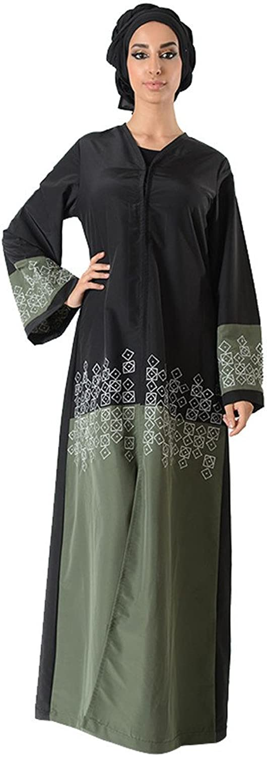 color Block Embroidered Eid Bisht Duster