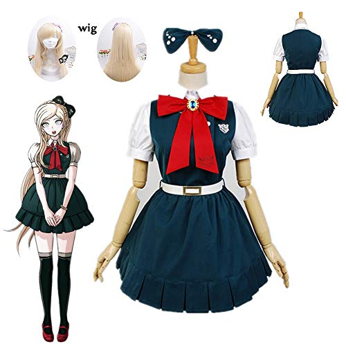 Qfeng Nieuwe Anime Super Danganronpa 2: Sayonara Zetsubou Gakuen Sonia nevermind Cosplay kostuums en pruik Halloween voor vrouwen op maat gemaakt