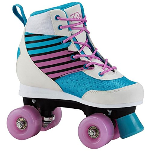 Firefly Kinder FF Roller Disco Rollschuhe, Turquoise/White/Pink, 35