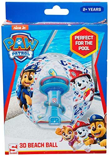 PAW PATROL Nickelodeon - Bola de Playa para Piscina al Aire Libre, Juguete Inflable para Fiestas, Multicolor