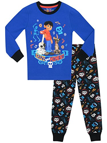 Disney - Ensemble De Pyjamas - Coco - Garçon - Bien Ajusté, Bleu, 7-8 ans