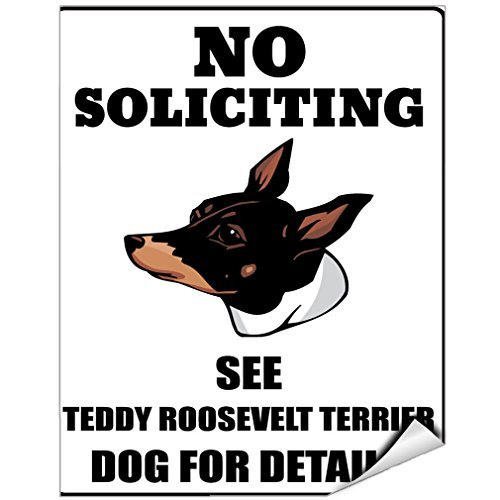 No Soliciting See Teddy Roosevelt Terrier Dog For Details, Vinyl-Aufkleber, 12,7 x 17,8 cm