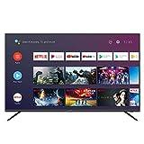 SmartTech SMT55F30UC2M1B1 140cm (55 Zoll) LED Fernseher Smart TV (4K UHD, HDR10, Android 9.0, Google Assistant, Google Play, Prime Video, Netflix, Chromecast) Schwarz [Modelljahr 2020]
