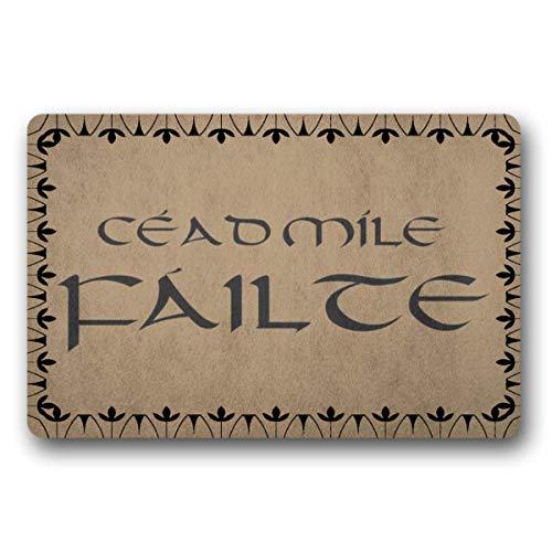 WYFKYMXX Celtic Gaelic Cead Mile Failte Welcome Doormat Welcome Mat Doormat Wedding Gift Outdoor Doormat 18' x 80'