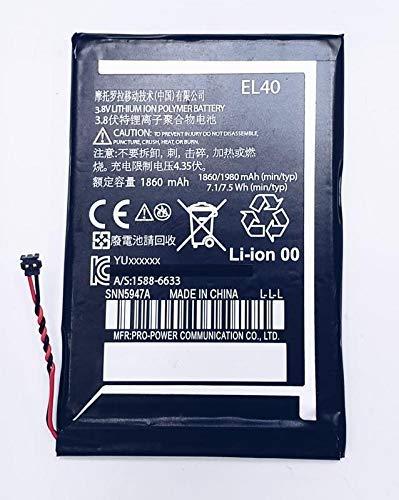 Systene Compatible Battery for Motorola Moto E XT1021 Moto E Dual SIM XT1022 EL40 1980mAh