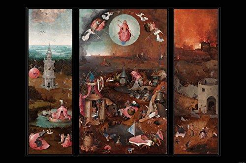 1art1 Hieronymus Bosch - Das Jüngste Gericht, Triptichon, Circa 1482 Selbstklebende Fototapete Poster-Tapete 180 x 120 cm