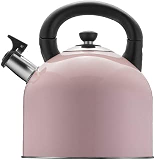 NUYI Unique Style 304 Stainless Steel 4L Large Capacity Hot Water Cooker for Gas Stoves and Induction Cookers,Pink
