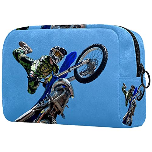 Travel Makeup Train Case Makeup Cosmetic Case Portable Artist Storage Bag for Cosmetics Makeup Brushes Toiletry Jewelry Accessories Motorcycle Motocross Motorbike (68)