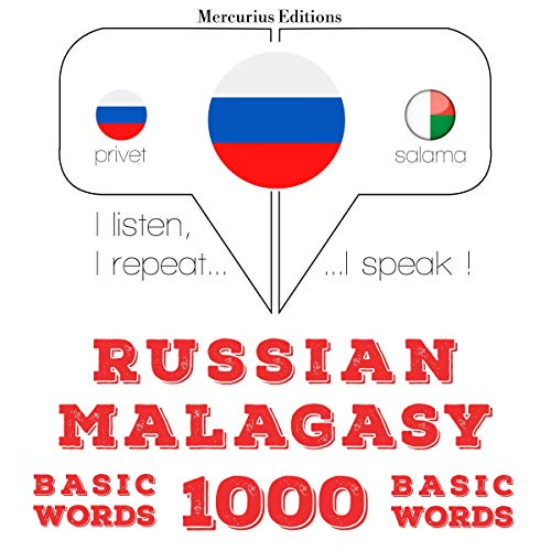 Russian - Malagasy. 1000 basic words cover art