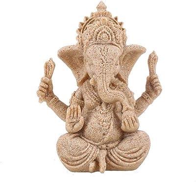 Amazon.com: JDSHSO Ganesha Buda Elefante Dios Estatua ...