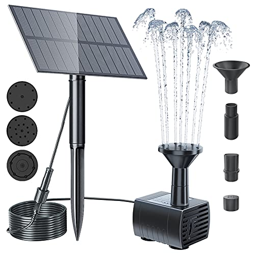 Biling Solar Water Fountain Pump Outdoor, 2021 Upgraded Solar Fountain Pond...