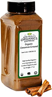 HQOExpress | Organic Ground Cinnamon | 17 oz. Chef Jar