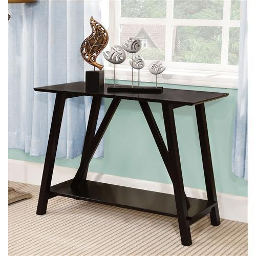 Furniture of America IDF-AC6218BK Dorian Modern Console Table, Black
