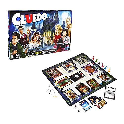 Klassische Brettspiele Cluedo, 2-6 Personen Denk- und Lösungsspiel, Alte Kriegsspiele, Mystery Brettspiel (LCUEDO)