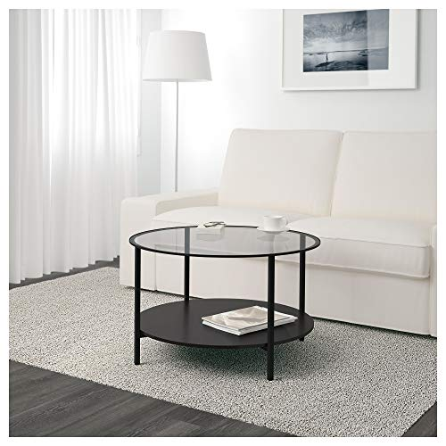 IKEA Vittsjö Coffee Table, Black-Brown, Glass