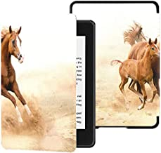 Kindle Paperwhite Cover 2018 Purebred White Arabian Horse in Desert Kindle Paperwhite Cover 2018 Case with Auto Wake/Sleep...