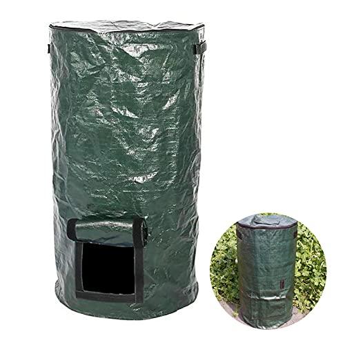 Bolsa de compostaje, bolsa de compostaje de polietileno orgánico para probióticos para residuos domésticos de cocina, desechos vegetales, suministros orgánicos, bolsa de jardín (45 x 80 cm)