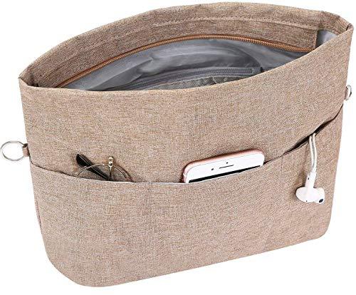 SHINGONE Handtaschen Organizer Oxford, Taschenorganizer Tasche in Tasche Organizer Innentaschen für Damen, Extra Groß Taschen Organisator mit Reißverschluss und Schlüsselanhänger