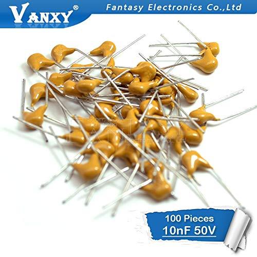 100PCS 10NF 0.01uF10%5.08MM 103 50V MLCC mehrschichtiger monolithischer keramischer Kondensator 0805