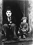 Photographie Noir et Blanc de Chaplin dans le film Le Kid (24x30 cm)