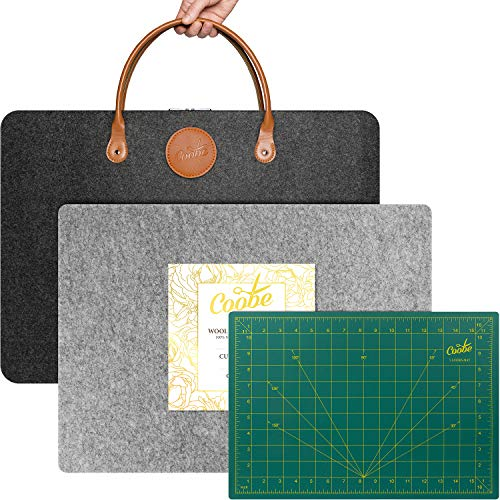 Kit 17' X 24' Wool Pressing Mat for Quilting | Cutting Mat | Carrying Case - Perfect for Classes and Travel, 100% New Zealand Wool Ironing Pad