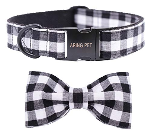 ARING PET Dog Collar Bowtie, Dog Collar with Bow, Adjustable Collars for Dogs Small Medium Large