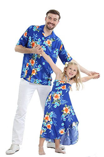 Matching Father Daughter Hawaiian Luau