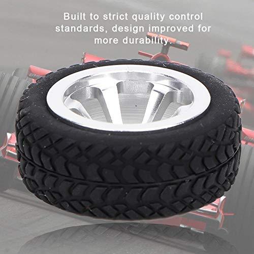 RC Rad Reifen, Automodell Zubehör Gummireifen Material Fit für WLtoys 1/28 RC K969 K989 K999 P929 4WD Short Pool Drift Offroad Rallye( Silber)