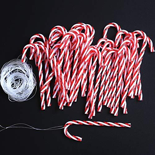 DAHI 32pcs Zuckerstangen für den Weihnachtsbaum Zuckerstangen zum hängen Weihnachten Anhänger